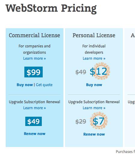 WebStorm  Licensing 1