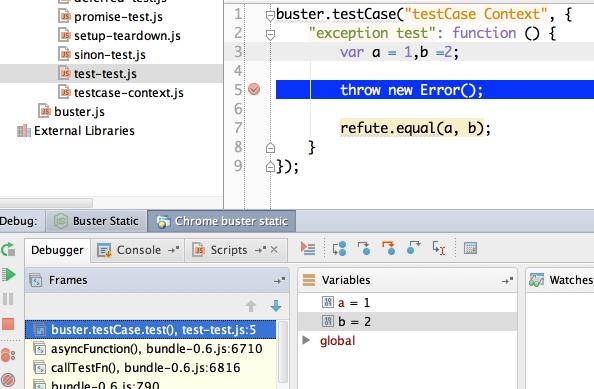 Test test js  WebStormBusterJS   ~DropboxworkspaceJavaScriptprojectWebStormBusterJS  JetBrains WebStorm  WebStorm WS 126 309 2013 02 20 23 37 44