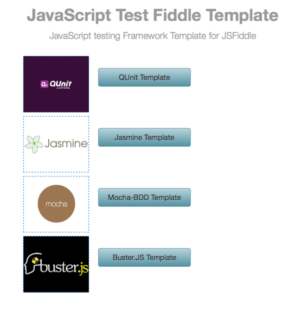 JavaScript Test Fiddle Template