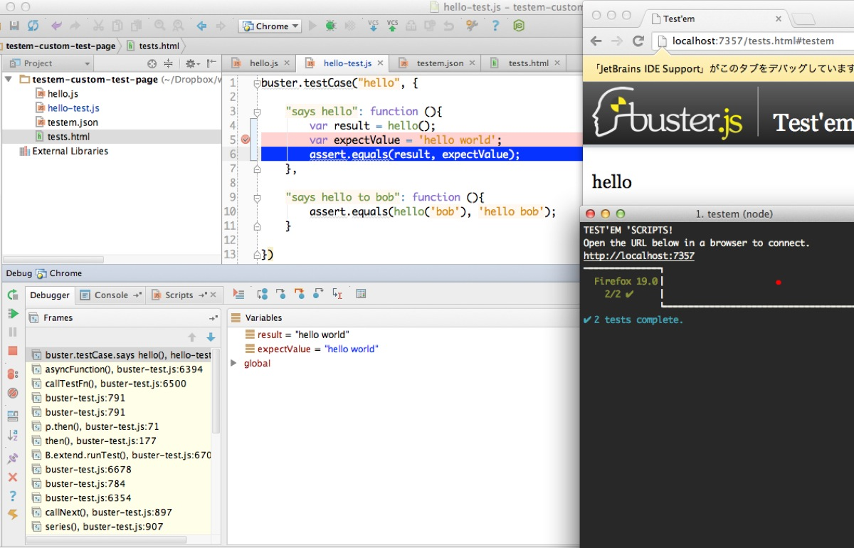 Hello test js  testem custom test page   ~DropboxworkspaceJavaScriptprojecttestem custom test page 2013 04 04 23 57 21