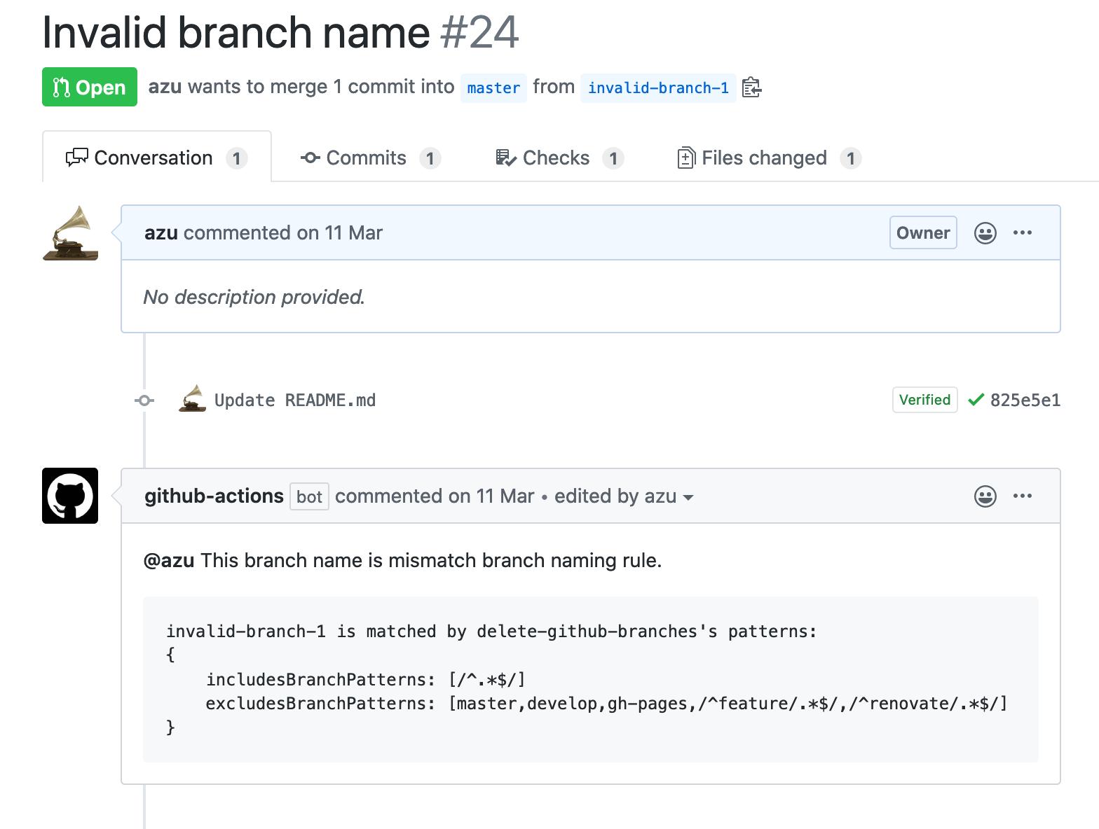 mismatch branch